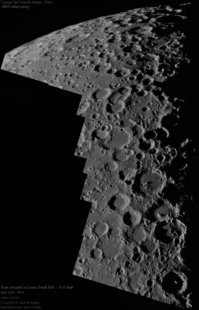 LUNAR MOSAIC_FROM ARZACHEL TO SOUTH POLE_05062014_CZann_